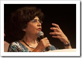 Fotos Ivone Perez  -  Evento Pró Dilma Teatro - Casa Grande - Rio de Janeiro  18/10/10.Marilena Chaui