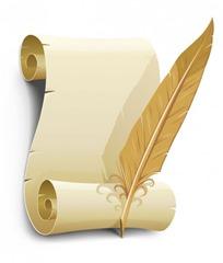 o-papel-velho-e-material-vetor-pena-da-pena_15-2179