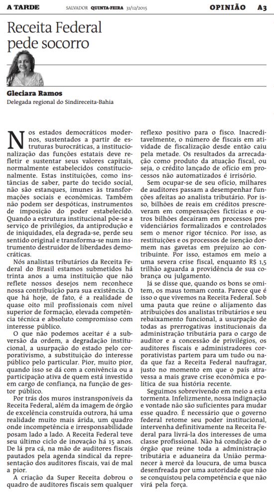 gleciara_ramos_receita_federal_pede_socorro